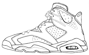 Jordan Vi Sketch Black And White Line Drawing Shoes Pinterest