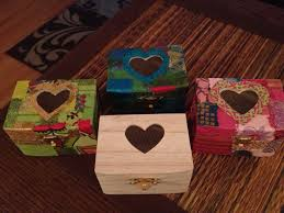 Small Decorative Wooden Boxes Bought small wooden boxes for a dollar and a bag of decorative 13