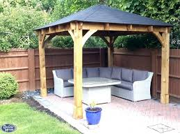 wood gazebo kit garden gazebo gazebos wooden open heavy duty garden gazebo kit square shelter hot