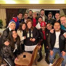 أجمل صور دلال عبد العزيز الأم مع دنيا وإيمي ورامي وحسن وأصدقائهم - ليالينا