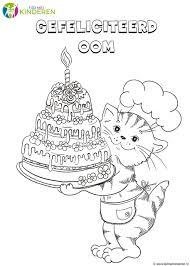 Grappige Kleurplaten Verjaardag Olivinumcom Character