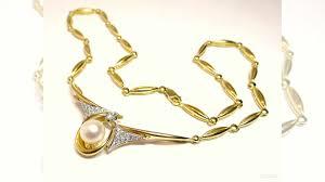 Золотое <b>колье</b> 750пробы с жемчужиной и <b>бриллиантами</b> купить в ...