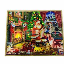 Khung ĐÈN LED Nghệ Thuật Bộ Tranh Gắn Đá Có Đèn Bộ Dụng Cụ cho Người Lớn  Thêu Túi Đeo Chéo Giáng Sinh Trang Trí Ông Già Noel 40x50 Diamond Painting  Cross Stitch