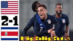 USA vs Costa Rica 2-1 Highlights All ...
