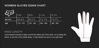 Fox Gear Size Chart Womens Ripley Gloves Fox Racing Canada