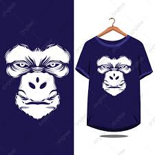 T Shirt Design Vector Free Download Gorilla Face T Shirt Design Monkey Animal Design Png And
