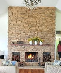 stacked stone panels fireplace how to install faux over brick
