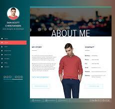 Resume Website Template Fascinating Gallery Of Ispy Cv Resume Blog Template On Behance Resume