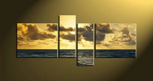lofty 4 piece wall art yellow canva ocean home d cor scenery multi panel huge set painting artwork black and white framed metal square on 4 piece wall artwork with lofty 4 piece wall art yellow canva ocean home d cor scenery multi