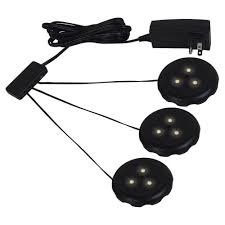 ambiance lx led black puck light kit ambiance under cabinet lighting