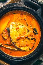 close up shot of alleppey fish curry