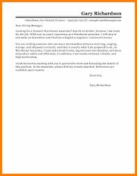 9 Cover Letter For Warehouse Worker Hostess Resume
