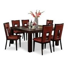 american signature furniture tango madera ii dining room 7 pc dinette 60