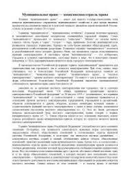 Реферат на тему Муниципальное право комплексная отрасль права  Реферат на тему Муниципальное право комплексная отрасль права