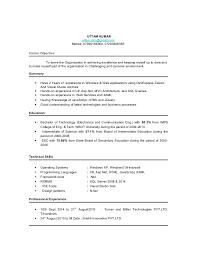 Uttam ResumeDot Net Developer Amazing Net Developer Resume