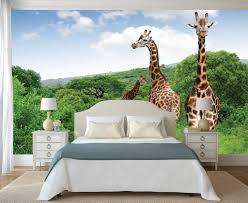 Jungle Behang Giraffe Muur Muurschildering Muur Decal Etsy