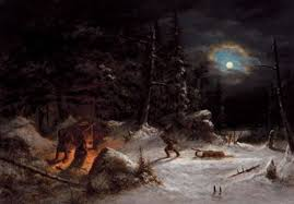 file indian hunters camp moonlight oil painting by cornelius krieghoff 1857