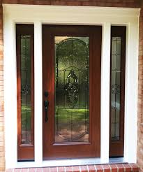 Custom Provia front entry door with sidelights and full light ...