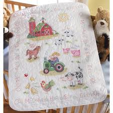 On the Farm Baby Quilt Kit - Bucilla Stamped Cross Stitch Kits at ... & Baby Quilt Kit - Stamped Cross Stitch - On the Farm Adamdwight.com