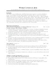 Resumes For Executive Assistants Resume Objective Statement Extraordinary Objective Resume Administrative Assistant