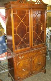 vintage china cabinet image 1 vintage china cabinet 1 piece upper 2 glass doors