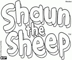 Small Picture Shaun the Sheep coloring pages printable games