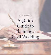 guide to planning a civil wedding