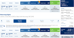 Jetblue Mileage Chart The Best Ways To Fly To Costa Rica With Points And Miles