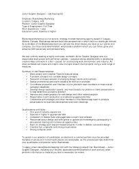 Resume Job Description Examples Job Description Skills And Abilities