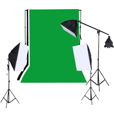 1215w softbox lighting kit studio backdrop stand black white green backdrop 135w light bulbs softbox light stand cantilever stick