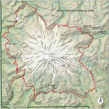 best mount rainier national park hike trail map  national