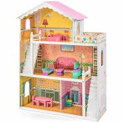 wooden barbie doll house furniture. Best Choice Products Large Childrens Wooden Dollhouse Fits Barbie Doll House Pink W/ 17 Pieces Furniture W