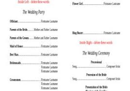Wedding Reception Agenda Template Beautiful Wedding Agenda 9 ...
