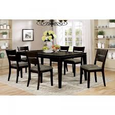 furniture of america cm3356t cm3356sc beresford 7 pieces transitional dark gray finish dining table set