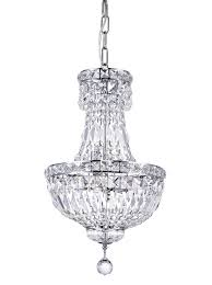 4 light mini chandelier with chrome finish