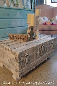 Shabby Chic White Coffee Table Old Vintage Trunktrunk Coffee Tableshabby Chic Trunkflat