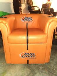 bud light leather bluetooth cooler football chair sports outdoors in lake tapawingo mo offerup