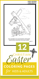 Christian Easter Coloring Pages Printables For Kids Adults