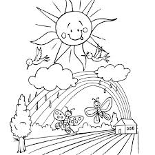 Images Of Spring Rainbow Coloring Page For Kids Seasons Coloring
