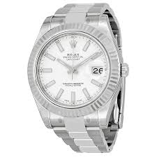 rolex datejust ii white gold bezel stainless steel mens watch zoom rolex rolex datejust ii white gold bezel stainless steel mens watch 116334wso
