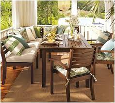 pottery barn outdoor dining. pottery barn chesapeake banquette for outdoor dining, from source 4 interiors. dining d