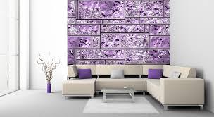 Trendy Idea Wandgestaltung Lila Mit Tapeten Effektvolle Ideen Für