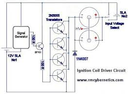 diy mini tesla coil rmcybernetics ignition coil driver circuit diagram