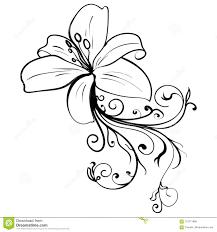 цветок эскиза татуировки чернил элегантности Grunge иллюстрация