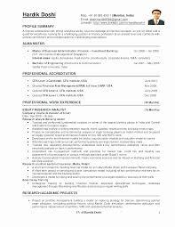 Cfa Candidate Resume Cool Entry Level Security Analyst Resume Fresh Entry Level Market