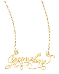 brevity personalized gold plate calligraphy necklace