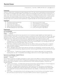 Resume Templates: Senior Account Manager