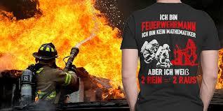 Feuerwehrmann Lustige Feuerwehr Sprüche Herren Damen Und Kinder T