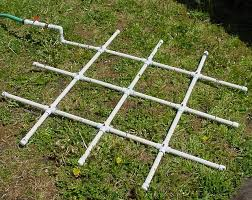 how to build a pvc watering grid