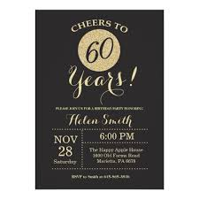 60 birthday invitations 60th birthday invitation black and gold glitter zazzle com